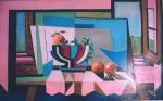 Obras de arte: America : Argentina : Buenos_Aires : Ascension : Naturaleza con mantel rosa
