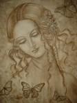 Obras de arte: America : Venezuela : Miranda : Caracas_ciudad : Mujer con Mariposas