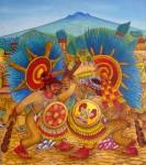Obras de arte: America : México : Tlaxcala : Tlax : Guerras floridas