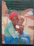 Obras de arte: Europa : España : Catalunya_Barcelona : Barcelona : Señora con niño
