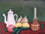Obras de arte: Europa : España : Catalunya_Barcelona : Barcelona : Tetera, candelabro y fruta