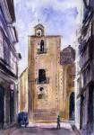 Obras de arte: Europa : España : Catalunya_Barcelona : Castelldefels : Iglesia de san Miguel de Andújar (parte posterior)