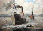 Obras de arte: Europa : España : Catalunya_Barcelona : Manresa : Barcos de Carga