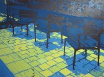 Obras de arte: America : Colombia : Antioquia : Medellín : Tres sillas solas en dia soleado