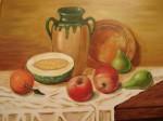 Obras de arte: Europa : España : Catalunya_Barcelona : Barcelona : Cerámica con frutas