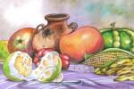 Obras de arte: America : Guatemala : Guatemala-region : Guatemala-ciudad : Frutas, Verduras y Barro