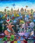 Obras de arte: America : Cuba : La_Habana : Vedado : LA TOMA DE LA HABANA POR LOS TURISTAS