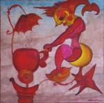 Obras de arte: America : México : Mexico_Distrito-Federal : Benito_Juarez : Sirena en bicicleta