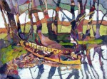 Obras de arte: America : Argentina : Buenos_Aires : Ramos_Mejía : Descanso en el Tigre