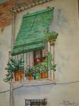 Obras de arte: Europa : España : Comunidad_Valenciana_Alicante : Elche : Balcon con flores