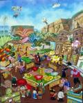 Obras de arte: America : Colombia : Santander_colombia : floridablanca : COMETAS MAGICAS