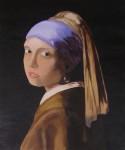 Obras de arte: Europa : España : Catalunya_Barcelona : Santpedor : La muchacha de la perla. Copia de Johannes Vermeer