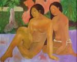 Obras de arte: Europa : España : Catalunya_Barcelona : Santpedor : Las tahitianas. Copia de Paul Gauguín