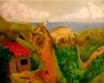 Obras de arte: America : Ecuador : Azuay : Cuenca : PAISAJE CON MUJER