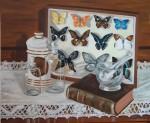Obras de arte: Europa : España : Castilla_la_Mancha_Guadalajara : Guadalajara__ciudad : Bodegón mariposas