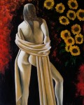 Obras de arte: America : Ecuador : Azuay : Cuenca : CHICA CON GIRASOLES