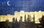 Obras de arte: Europa : España : Andalucía_Málaga : Malaga_ciudad : Alcazaba Nocturna