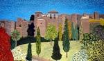 Obras de arte: Europa : España : Andalucía_Málaga : Malaga_ciudad : Alcazaba de Noche