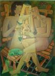 Obras de arte: America : Estados_Unidos : Florida : miami : Gato verde