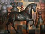 Obras de arte: America : México : Mexico_Distrito-Federal : iztapalapa : Caballo negro