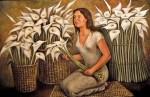 Obras de arte: America : México : Mexico_Distrito-Federal : iztapalapa : Mujer con alcatraces