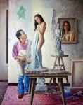 Obras de arte: America : Colombia : Santander_colombia : Bucaramanga : RETRATOS-serie Nacimiento