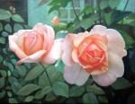 Obras de arte: Europa : Francia : Ile-de-France : Versailles_ciudad : rosas en el jardin 2