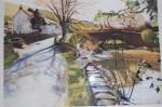 Obras de arte: Europa : España : Euskadi_Bizkaia : barakaldo : niños en el rio