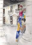 Obras de arte: Europa : España : Catalunya_Barcelona : ir_a_paso_2 : Zancudas en la habana vieja