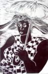 Obras de arte: America : Brasil : Parana : Curitiba : Mulher com sombrinha