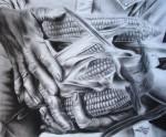 Obras de arte: America : México : Oaxaca : oaxaca_centro : la cosecha