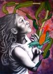 Obras de arte: America : México : Oaxaca : oaxaca_centro : maiz, sangre del país