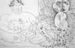 """Obras de arte: America : Argentina : Buenos_Aires : cIUDAD_aUTíNOMA_DE_bS_aS : """"Escultor descansando, modelo y escultura"""""""
