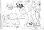 """Obras de arte: America : Argentina : Buenos_Aires : cIUDAD_aUTíNOMA_DE_bS_aS : * """"Escultor y estatua de tres bailarinas"""""""