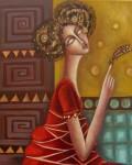 Obras de arte: Europa : España : Aragón_Teruel : Fuentespalda : la dama y la libélula
