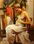 Obras de arte: America : Argentina : Buenos_Aires : Ciudad_de_Buenos_Aires : En la espera y el pañuelo Rojo