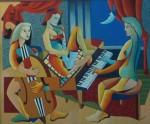 Obras de arte: America : Estados_Unidos : Florida : miami : Las Tres Melodia