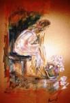 Obras de arte: Europa : España : Catalunya_Tarragona : Banyeres_Penedes : Mujer con flores