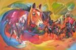 Obras de arte: America : Colombia : Santander_colombia : Bucaramanga : caballos1