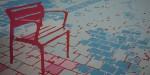Obras de arte: America : Colombia : Antioquia : Medellín : Silla fucsia en Avenida de el poblado