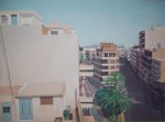 Obras de arte: Europa : España : Comunidad_Valenciana_Alicante : Xabia : Terraza con palmeras