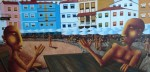 Obras de arte: Europa : España : Principado_de_Asturias : Gijón : Conversación en Cudillero