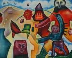 Obras de arte: America : México : Quintana_Roo : PLAYA_DEL_CARMEN : La metamorfosis de Crear - Hombre Bueno