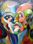 Obras de arte: America : Argentina : Buenos_Aires : Caballito : Las dos caras