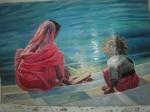 Obras de arte: Europa : Espa�a : Castilla_La_Mancha_Toledo : Castillo_de_Bayuela : frente el rio