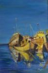 Obras de arte: America : Argentina : Buenos_Aires : Mercedes : Siesta de barcos II