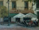 Obras de arte: Europa : España : Madrid : Hoyo_Manzanares : Terraza, mediodía, Plaza Sta.  Ana, Madrid
