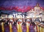 Obras de arte: America : Argentina : Buenos_Aires : Ciudad_de_Buenos_Aires : Anochecer en Roma