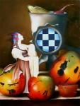 Obras de arte: America : Cuba : La_Habana : Vedado : Bodegón con mangos VI