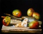 Obras de arte: America : Cuba : La_Habana : Vedado : Bodegón con mangos IX